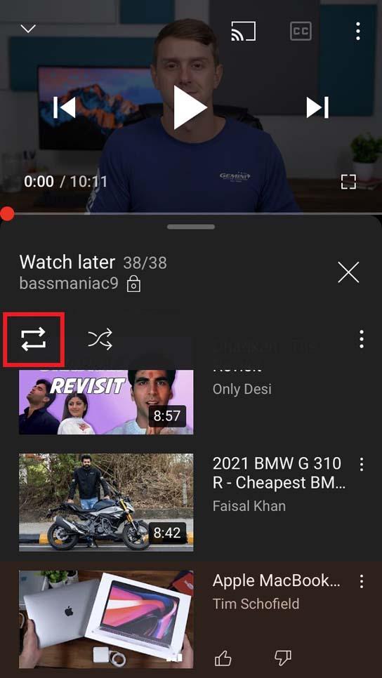 如何在 iOS 版 YouTube 应用上循环播放视频?
