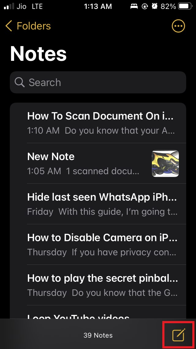 如何使用 Notes 应用程序在 iPhone 或 iPad 上扫描文档?