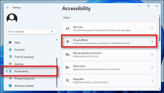 如何在 Windows 11 中关闭动画