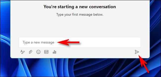 如何在 Windows 11 中使用 Teams Chat