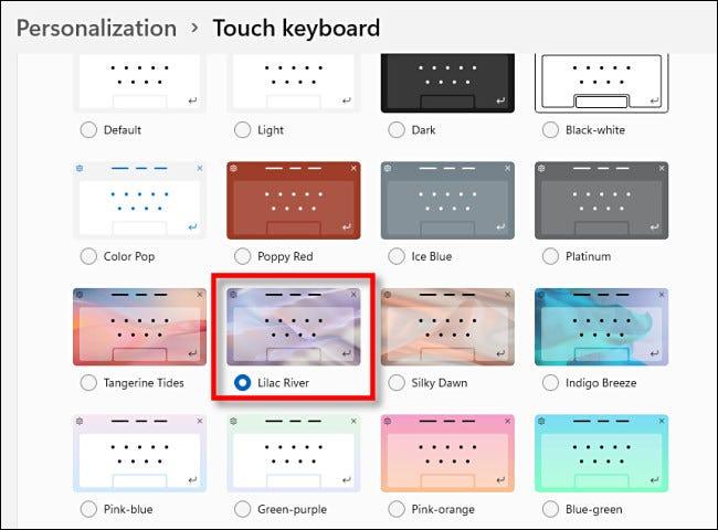 PSA:您可以在 Windows 11 中更改触摸键盘主题