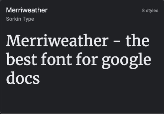 Google Docs 文档的最佳字体