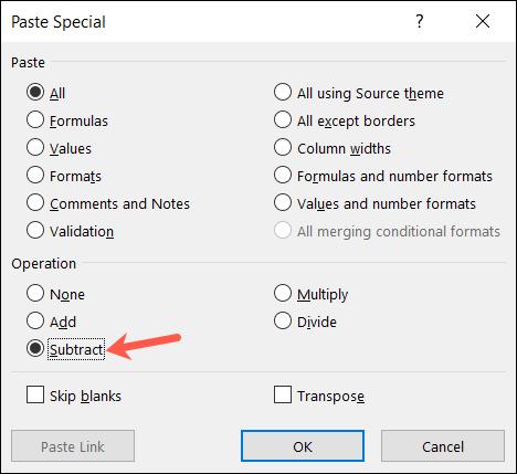 如何在 Microsoft Excel 中使用特殊粘贴添加或乘以值