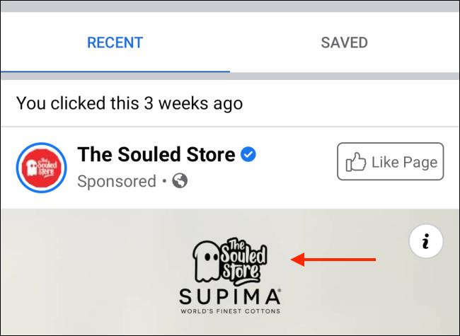 如何在 Facebook 上查找最近查看的广告