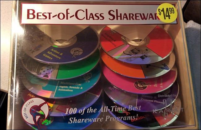 共享软件 CD 的黄金时代