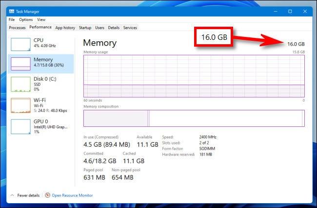 如何在 Windows 11 上检查您的 RAM 数量、类型和速度
