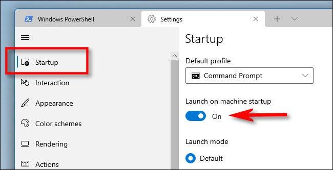 如何在 Windows 11 上启动时启动 Windows 终端